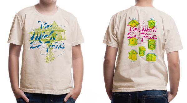 Birdhouse shirt on Oatmeal