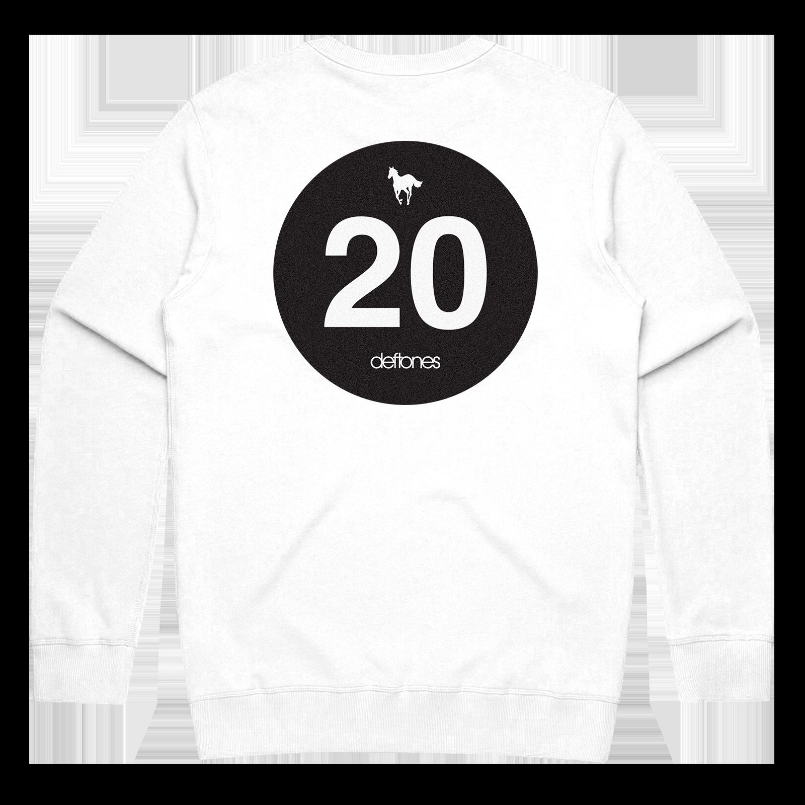 Black Stallion // White Crewneck Sweatshirt