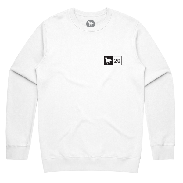 Black Stallion // White Crewneck Sweatshirt
