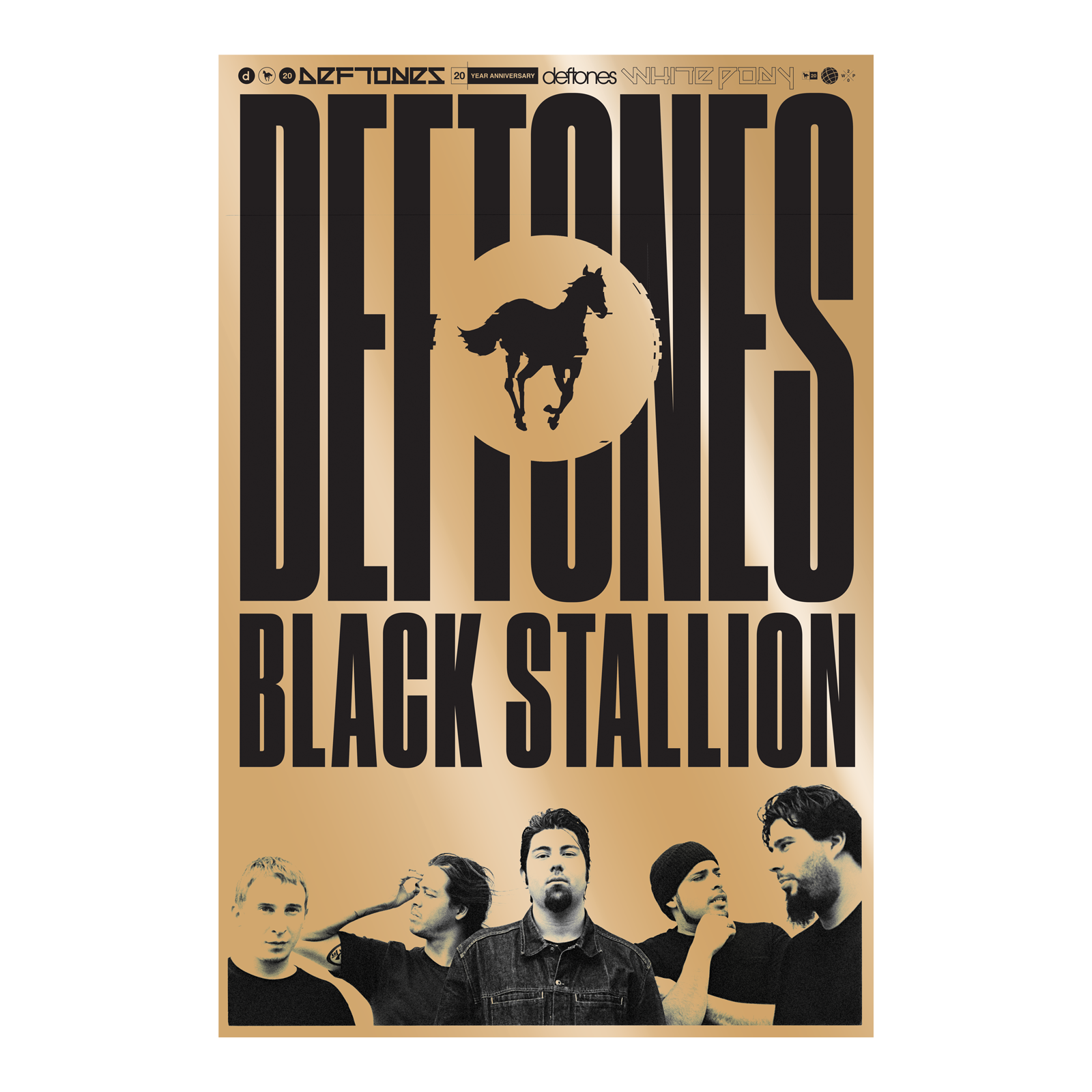 Black Stallion // Gold Lithograph