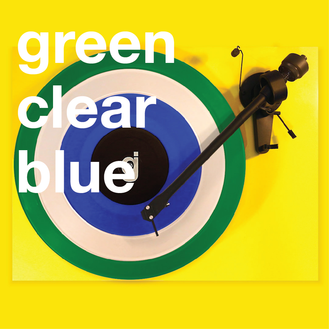 Coloring Book Vinyl - Green, Clear, Blue