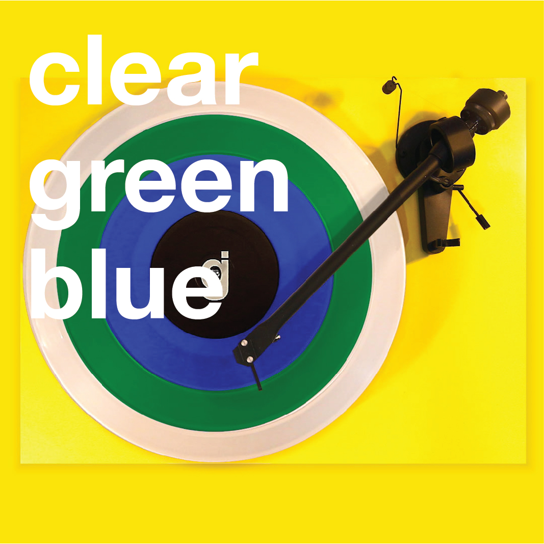 Coloring Book Vinyl - Clear, Green, Blue