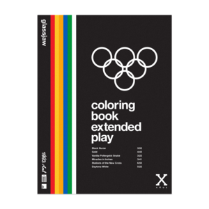 Coloring Book Vinyl - Clear, Orange, Blue