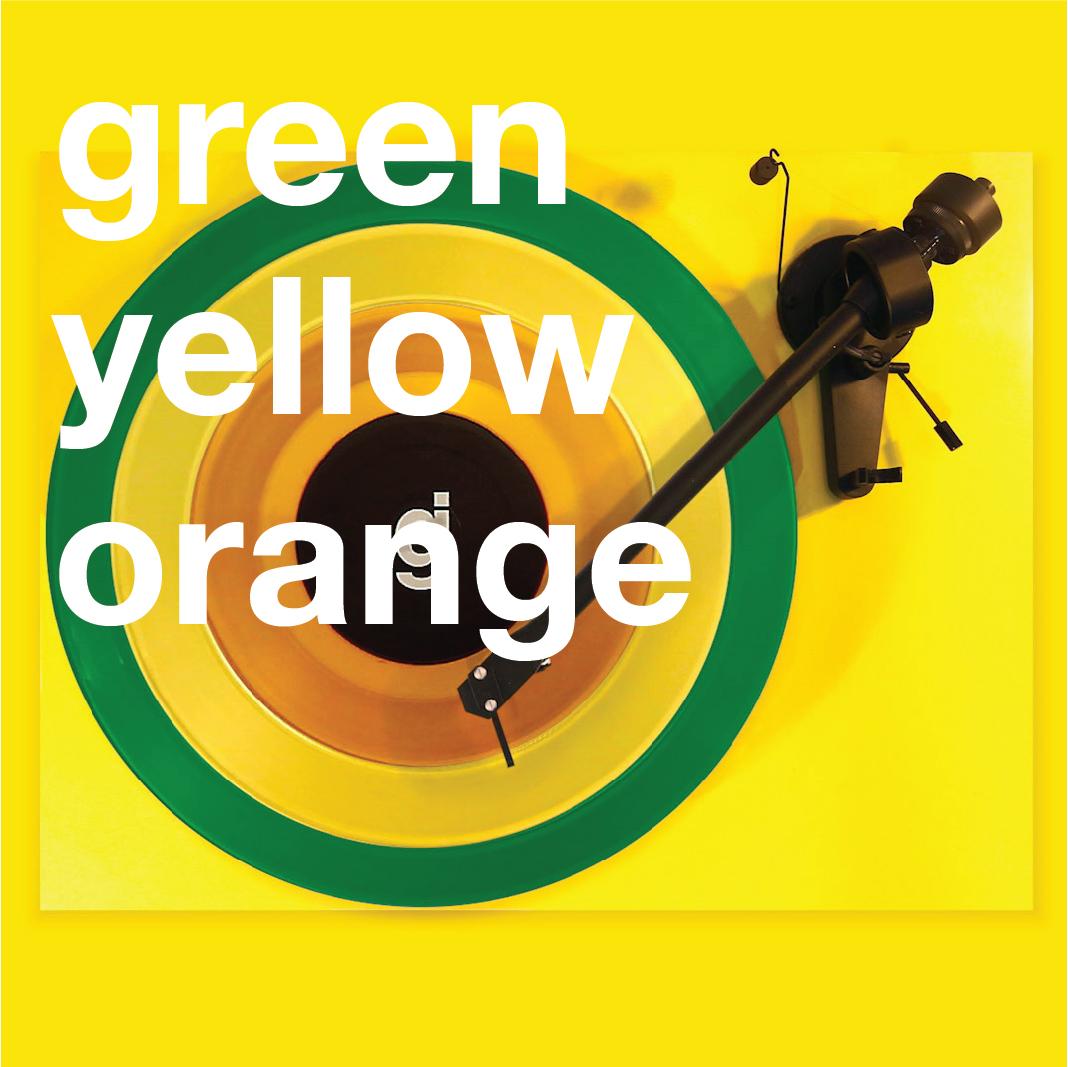 Coloring Book Vinyl - Green, Yellow, Orange