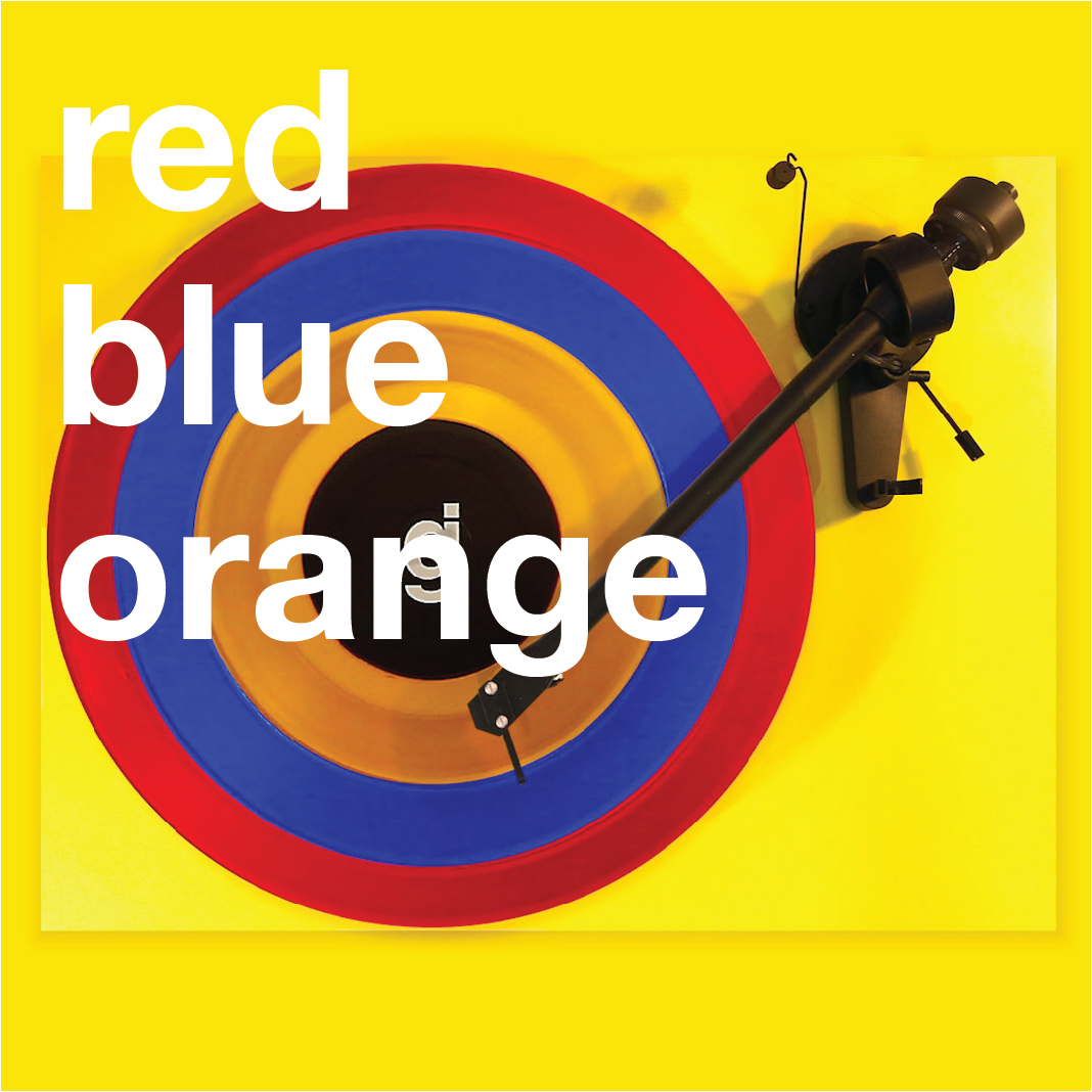 Coloring Book Vinyl - Red, Blue, Orange