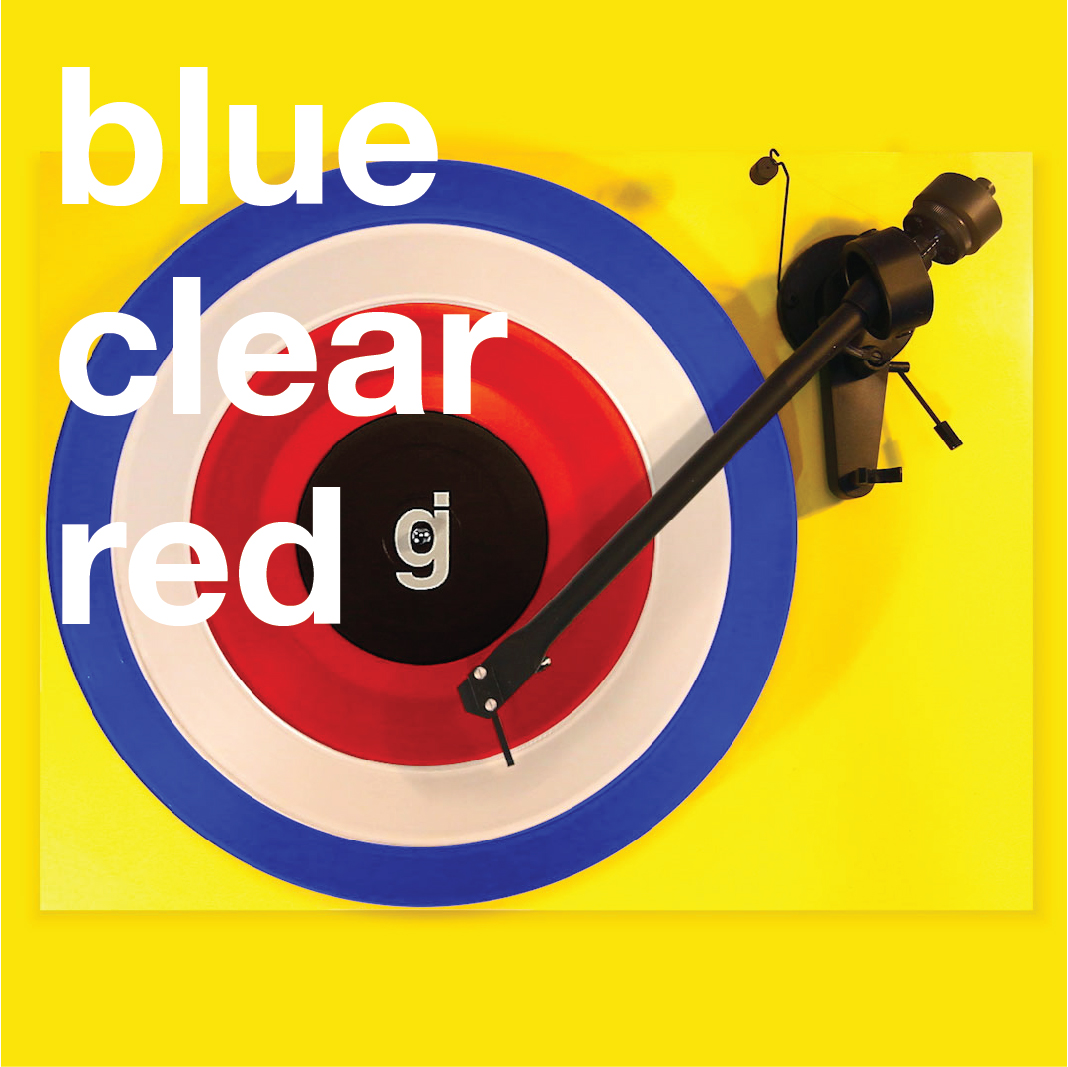 Coloring Book Vinyl - Blue, Clear, Red