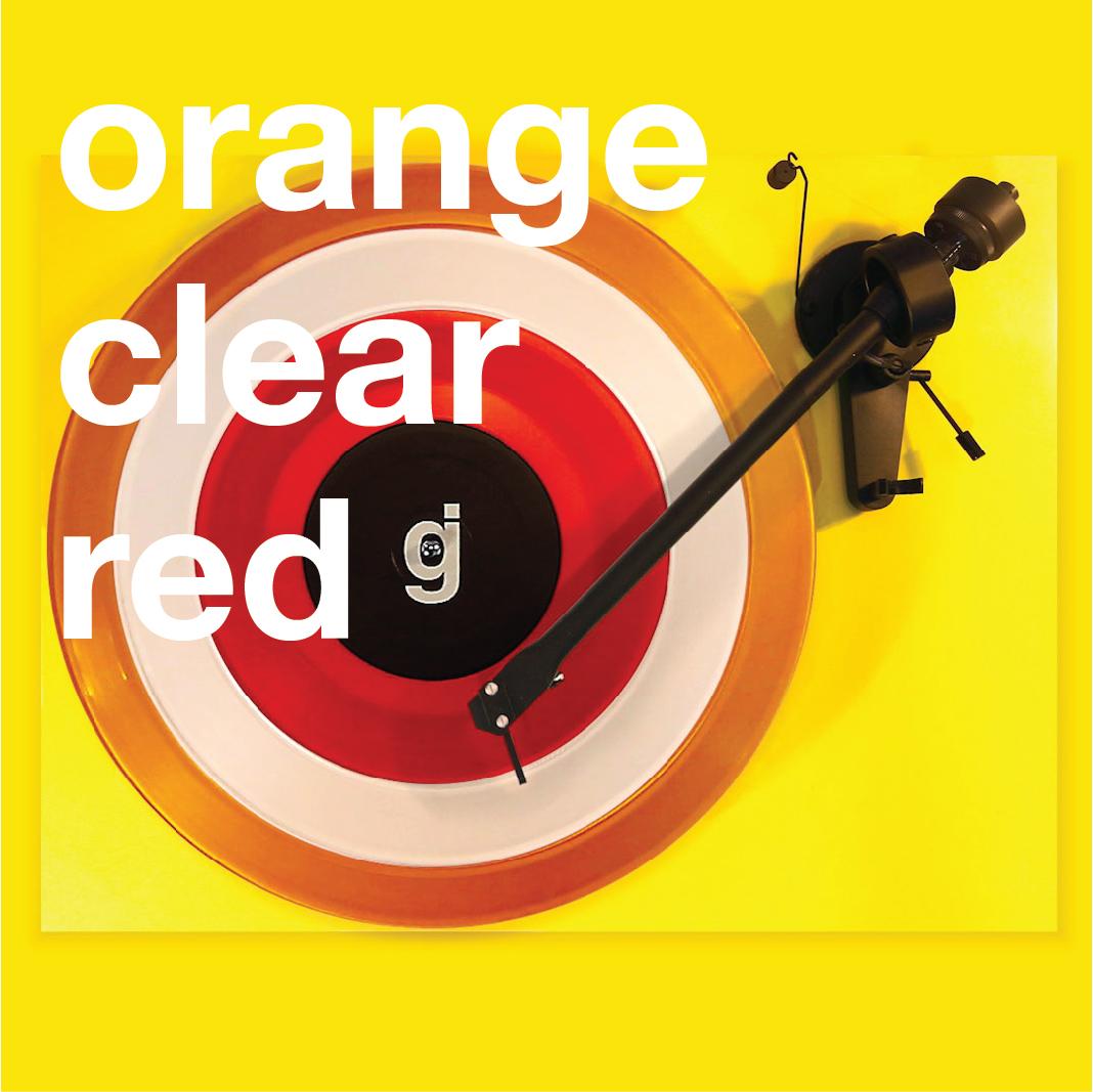 Coloring Book Vinyl - Orange, Clear, Red