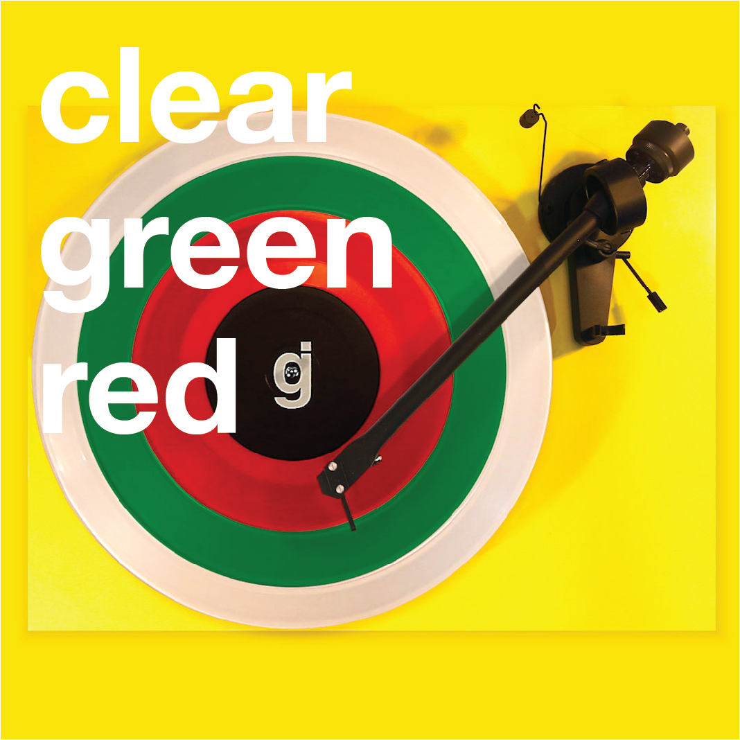 Coloring Book Vinyl - Clear, Green, Red