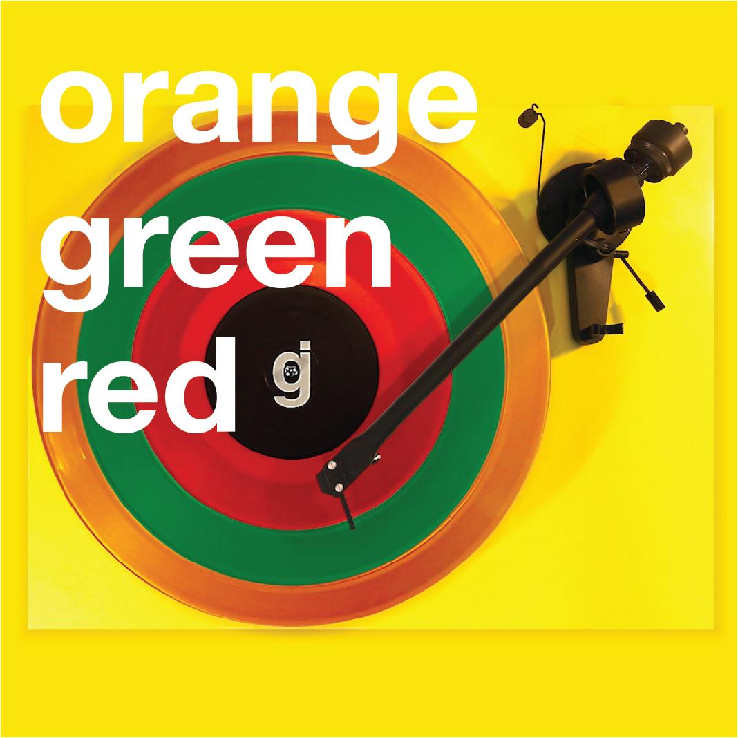 Coloring Book Vinyl - Orange, Green, Red
