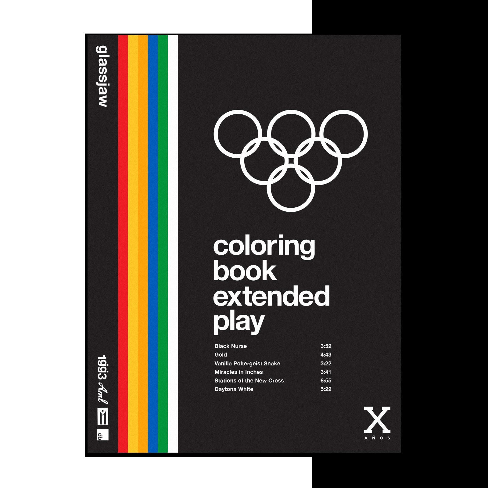 Coloring Book Vinyl - Clear, Orange, Red