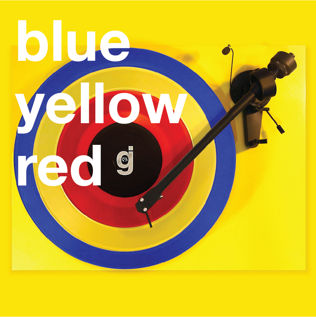 Coloring Book Vinyl - Blue, Yellow, Red