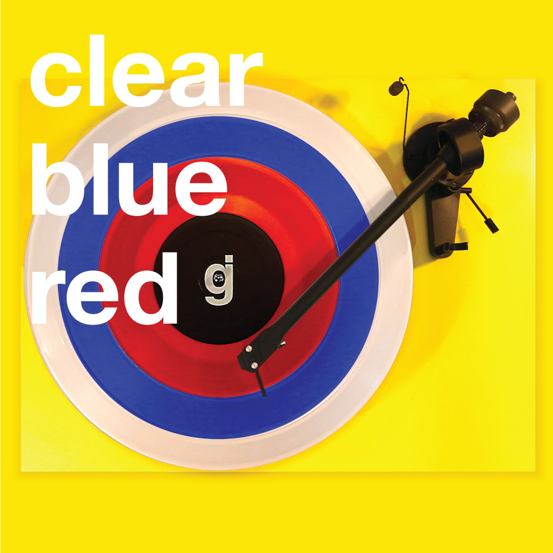 Coloring Book Vinyl - Clear, Blue, Red
