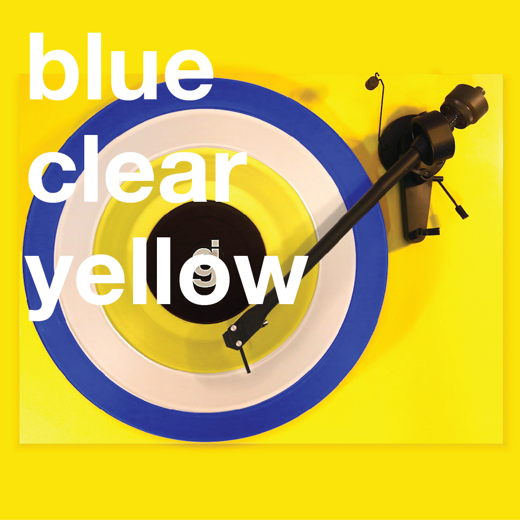 Coloring Book Vinyl - Blue, Clear, Yellow