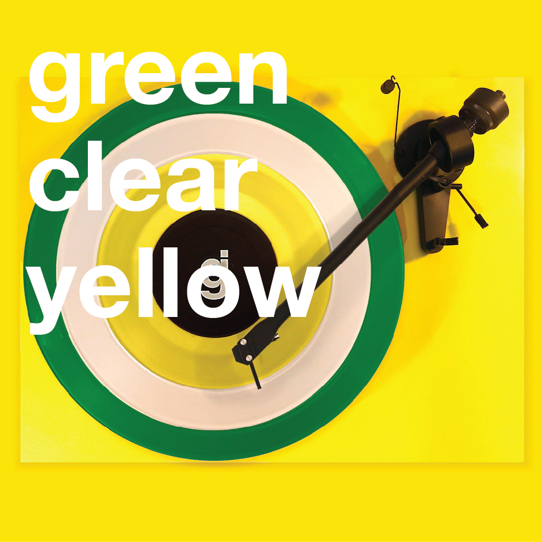 Coloring Book Vinyl - Green, Clear, Yellow