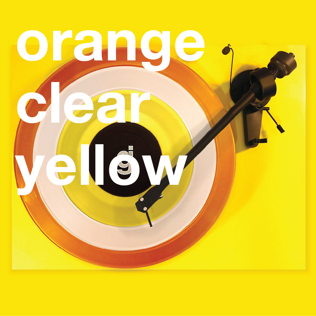 Coloring Book Vinyl - Orange, Clear, Yellow