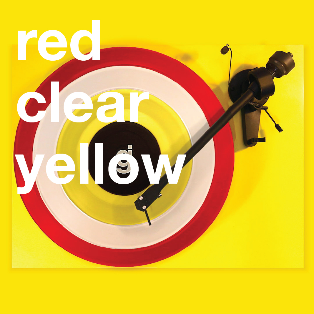 Coloring Book Vinyl - Red, Clear, Yellow