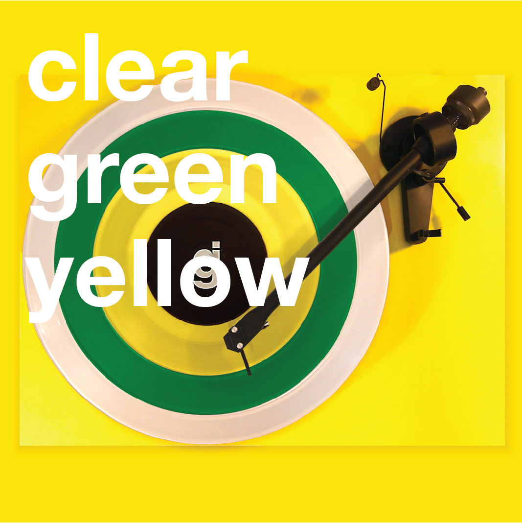 Coloring Book Vinyl - Clear, Green, Yellow