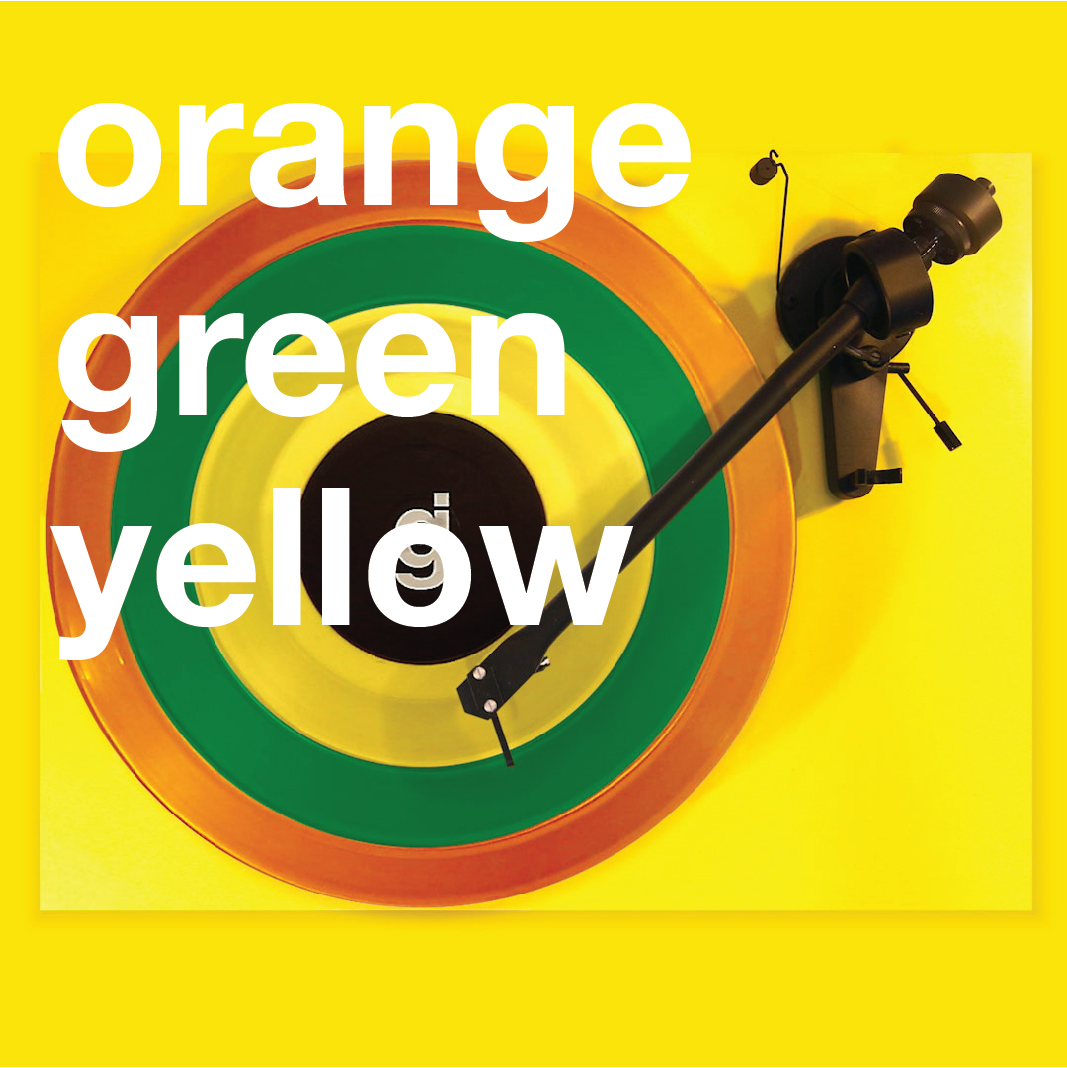 Coloring Book Vinyl - Orange, Green, Yellow