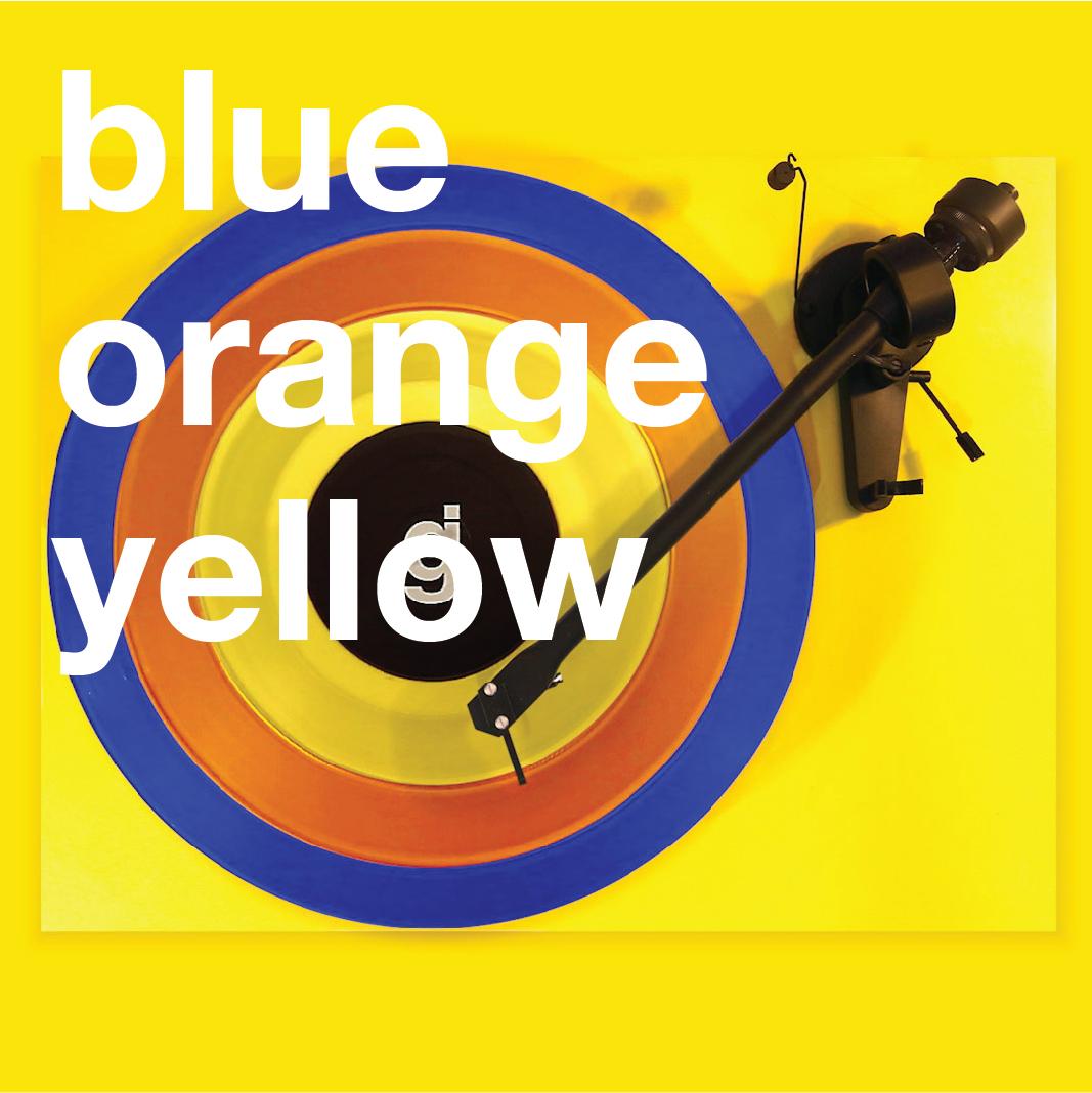 Coloring Book Vinyl - Blue, Orange, Yellow