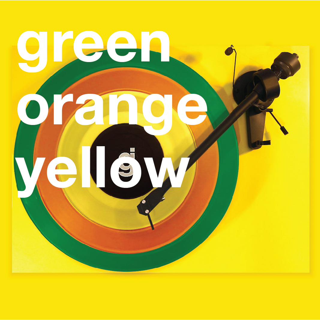 Coloring Book Vinyl - Green, Orange, Yellow