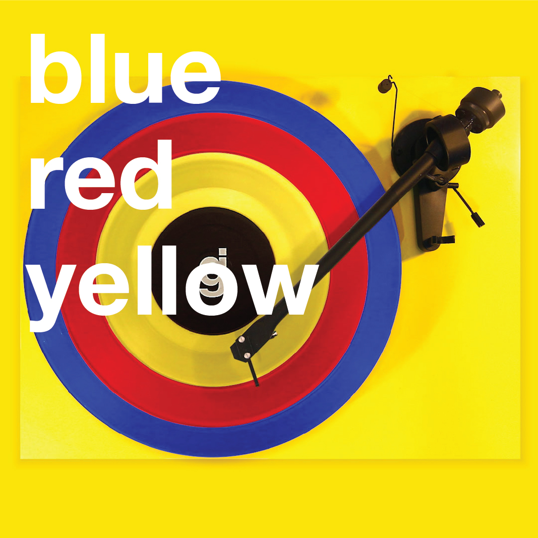 Coloring Book Vinyl - Blue, Red, Yellow