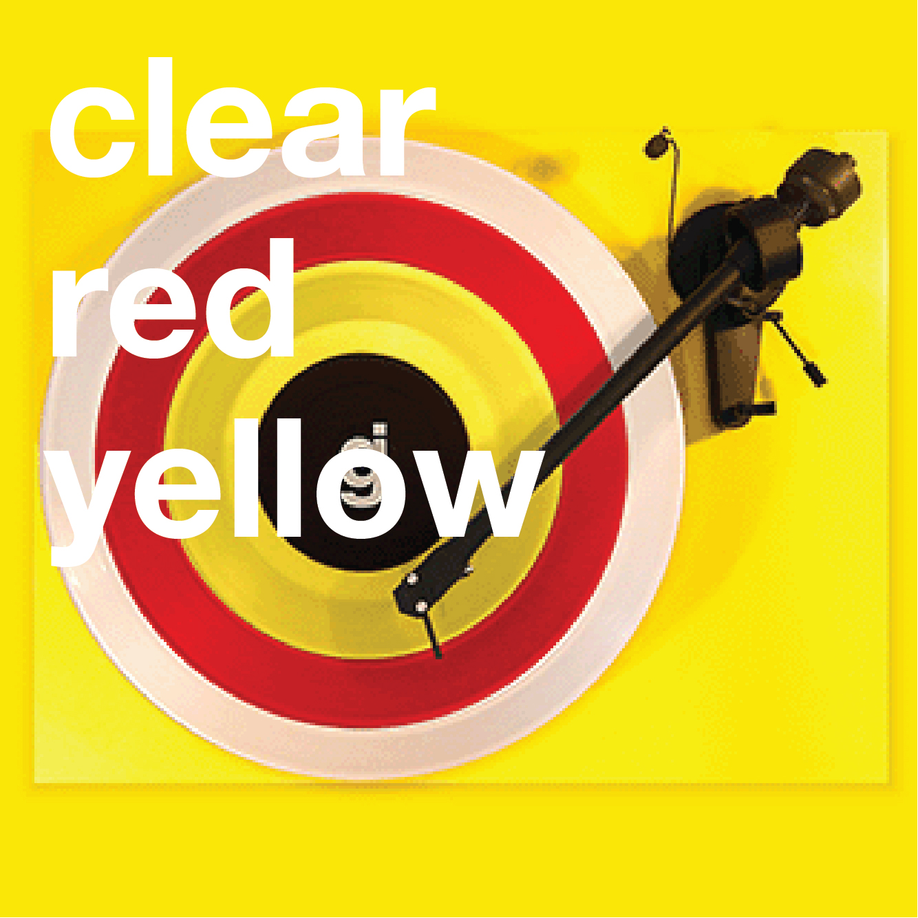 Coloring Book Vinyl - Clear, Red, Yellow