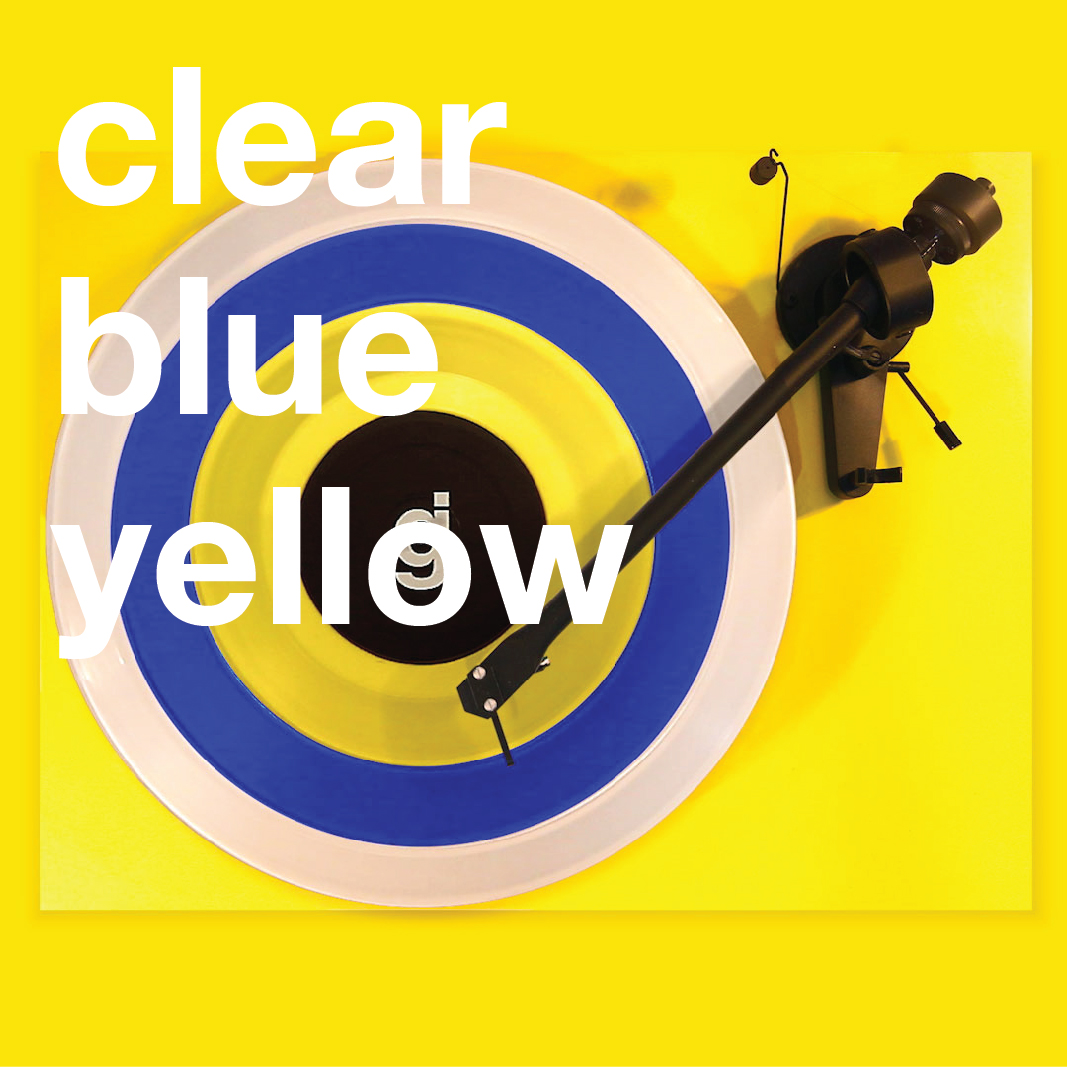 Coloring Book Vinyl - Clear, Blue, Yellow