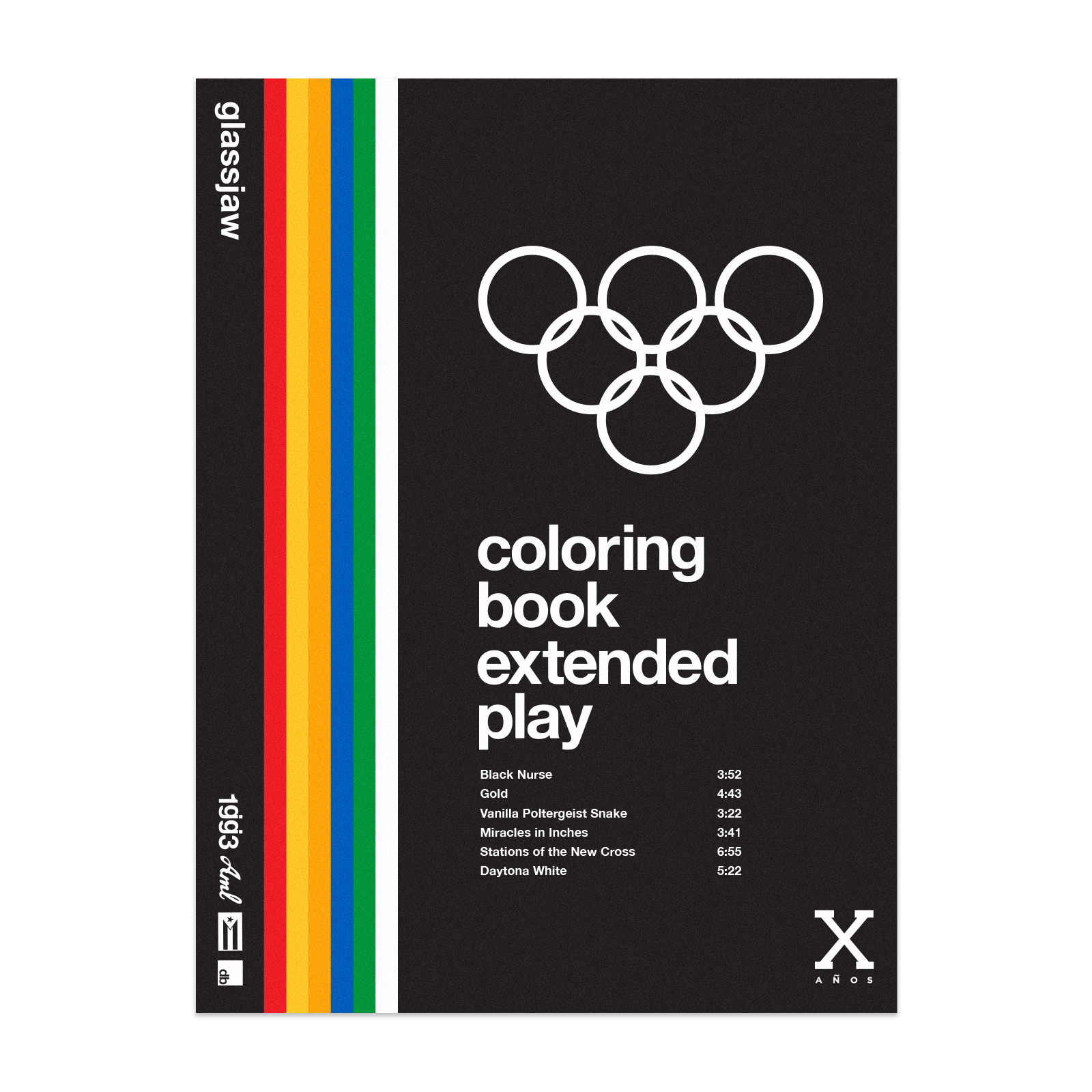 Coloring Book Vinyl - Orange, Blue, Yellow
