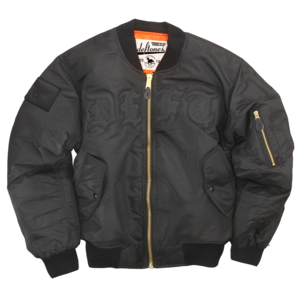 Black on Black Bomber Jacket