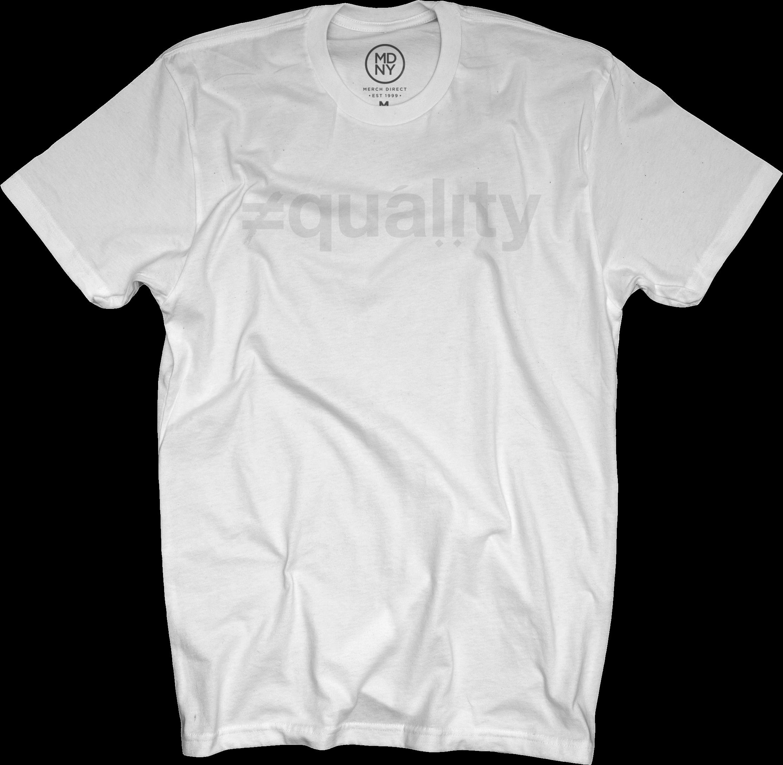 Ali Shaheed - Equality White on White T-Shirt