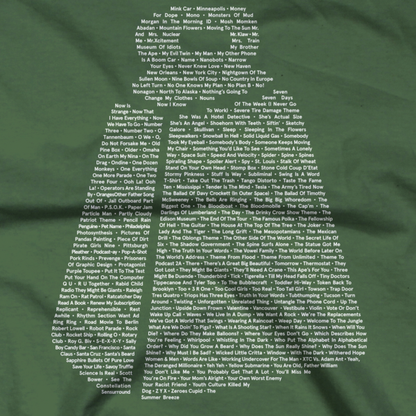 Cowbell Songs on Green T-Shirt