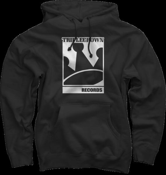 TCR Logo on Black Pullover Sweatshirt