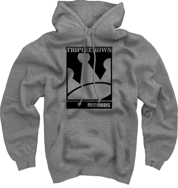 TCR Logo on Heather Grey Pullover Sweatshirt
