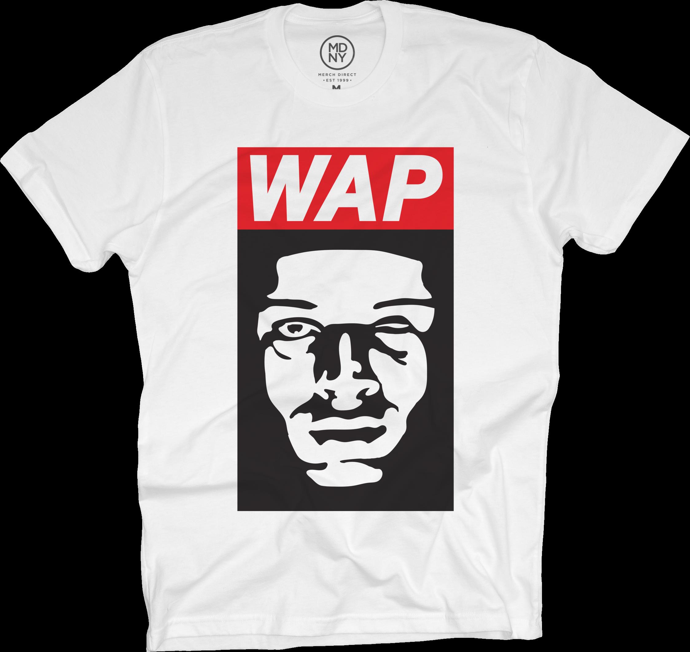 WAP Face White T-Shirt