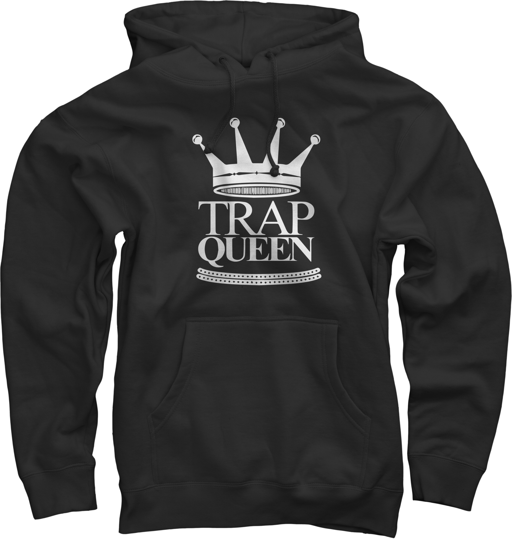 Trap Queen Black Pullover Sweatshirt
