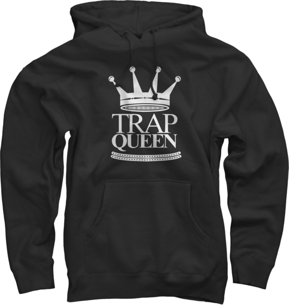 Trap Queen Black Pullover Sweatshirt