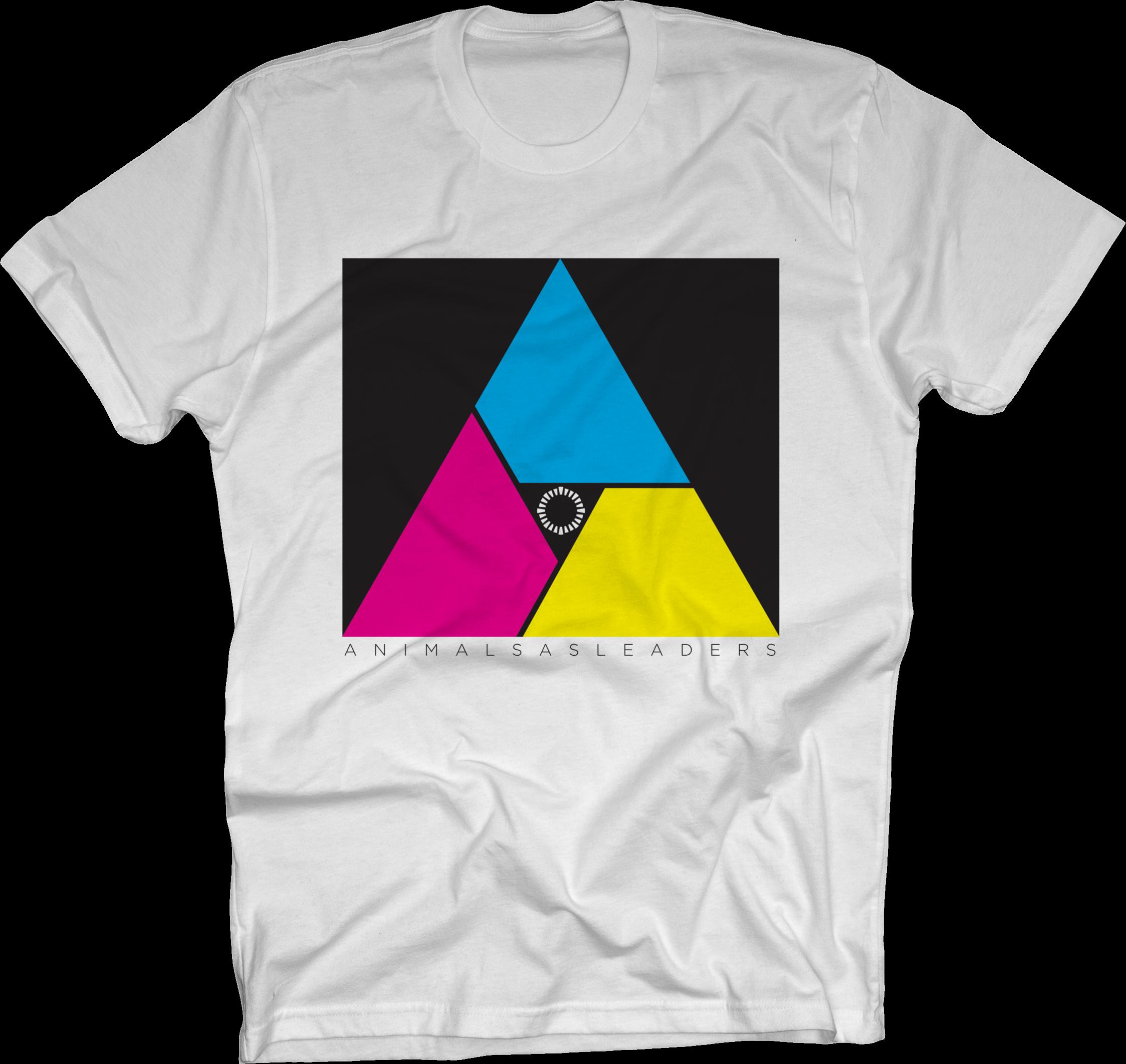 Multicolor Triangle on White