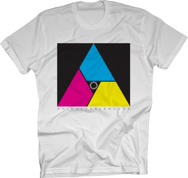 Multicolor Triangle on White