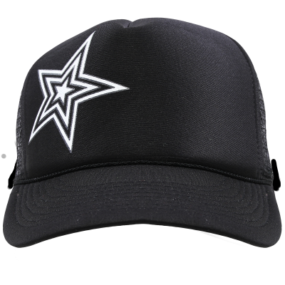 Dirty Couture - Black with White Star Trucker Hat 28b878d8f06