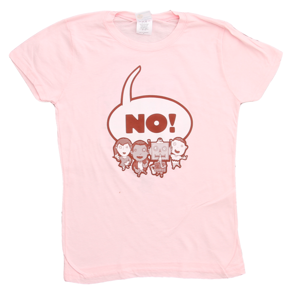 NO! on Pink Fine Jersey Slim Fit Women's T-Shirt