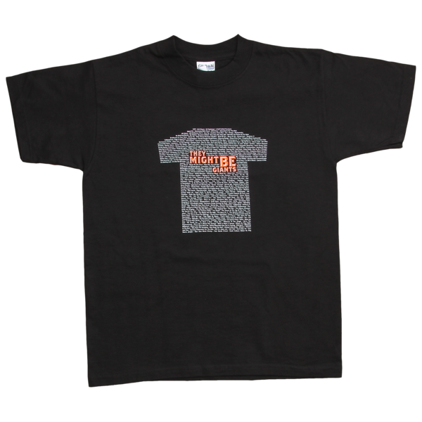 Small Graphic Songs Kids Shirt on Black