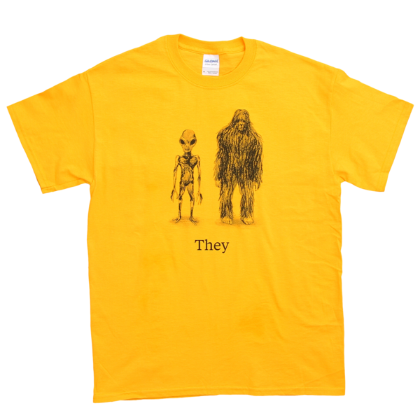Cryptids on Gold T Shirt